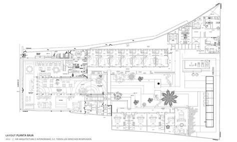 layout de un hotel hotel b quot o muro rojo arquitectura archdaily brasil