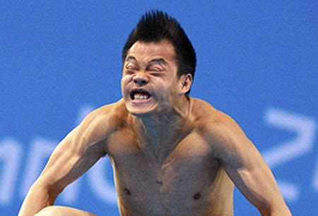 chinese diver diving face olympics constipation blank