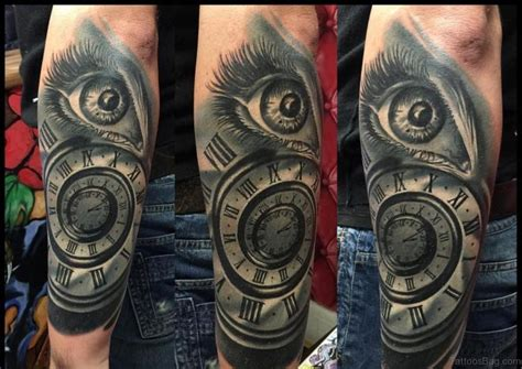 tattoo eye and clock 61 mind blowing eye tattoos on arm