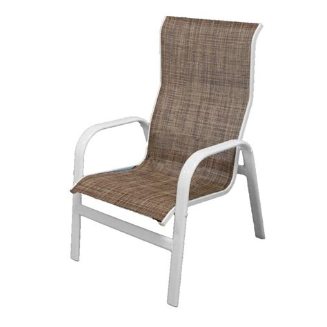 White Patio Chairs by Marco Island White Commercial Grade Aluminum Sling Outdoor