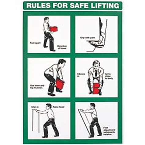 printable safe lifting poster quot rules for safe lifting quot poster 600 x 420mm safety