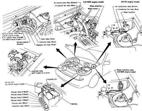 91 nissan caravan engine compartment diagram wiring
