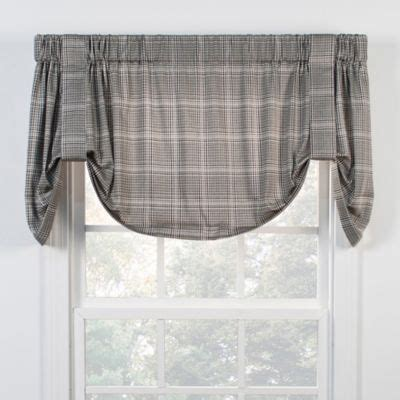 black tie up curtains buy morrison window valance in black from bed bath beyond