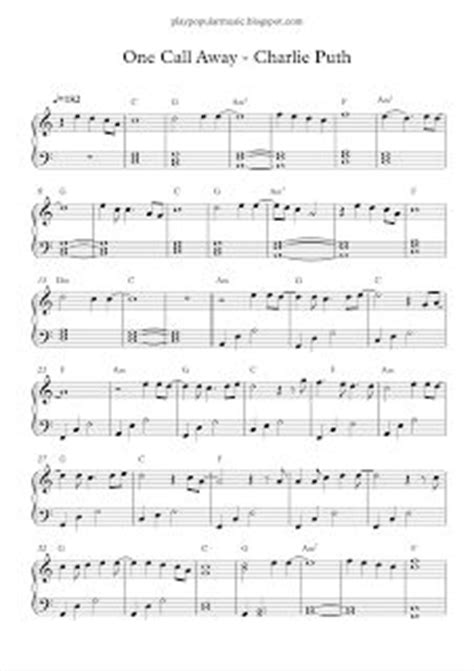 charlie puth how long chord best 25 piano sheet music ideas on pinterest sheet