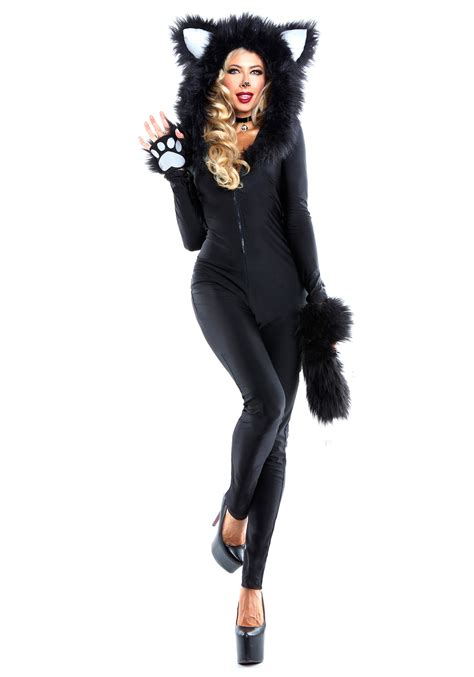 halloween costumes women s furry feline costume