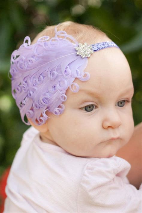 Headband Baby Feather baby feather headband christening headband flower