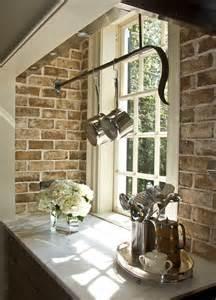 exposed brick kitchen design decor photos pictures