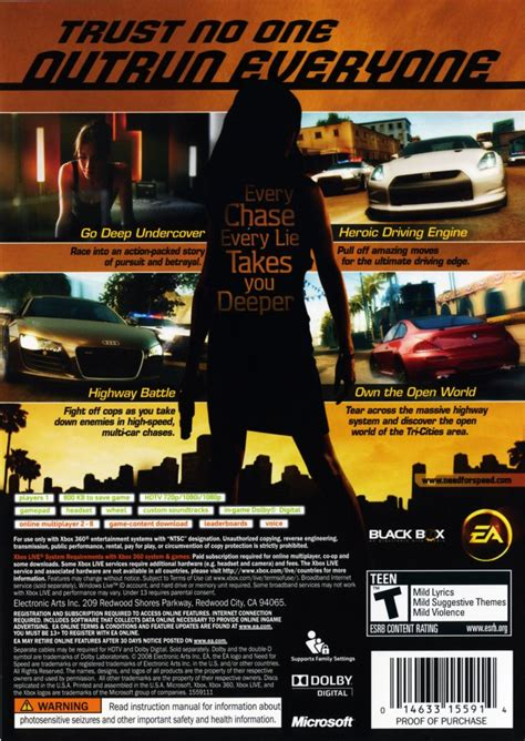 best need for speed xbox 360 need for speed undercover 2008 xbox 360 box cover