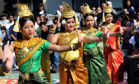 performance in celebration of the cambodian new year