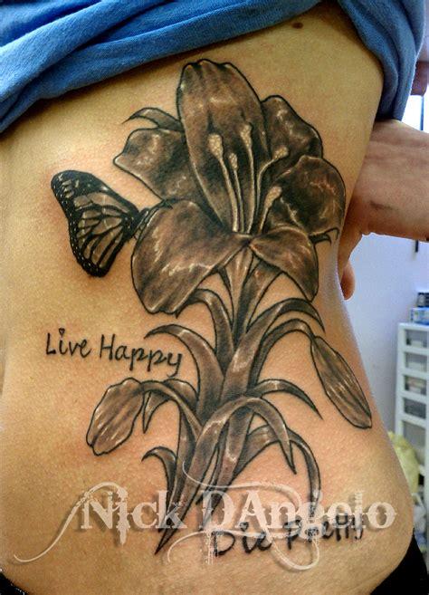tattoo flower on side flower tattoo on side by nickdangelotattoos on deviantart