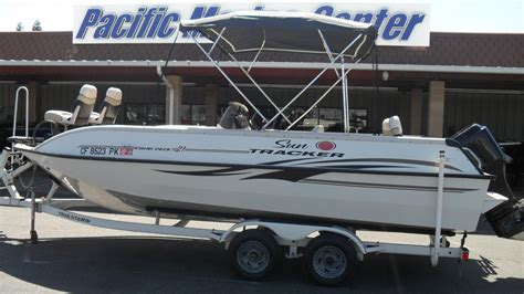 used tracker deck boats for sale sun tracker 21 party deck boats for sale new and used