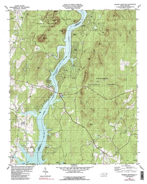 carolina forest trail map morrow mountain topographic map nc usgs topo 35080c1