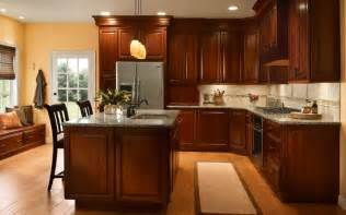 kitchen color ideas with cherry cabinets dark cherry kitchen cabinets ideas