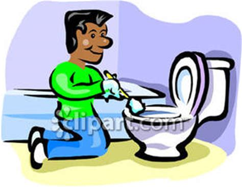 man cleaning bathroom cleaning bathroom clipart 16