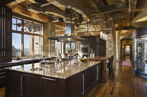 Big Mountain Countertops by 49 High End Wood Kitchen Designs
