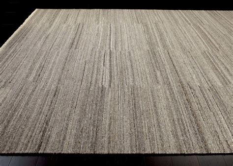 angora rug wool soumak rug light gray geometric striped rugs