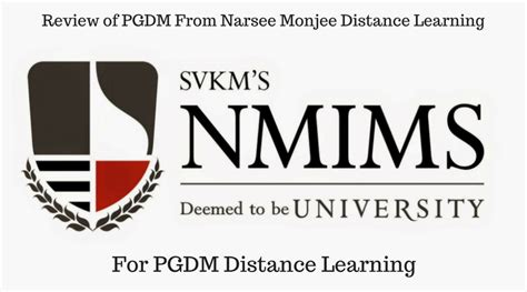 Jamia Hamdard Mba Review by Review Narsee Monjee Distance Learning Pgdm Distance