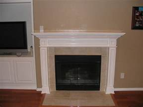 new fireplace design with white mantel and wall
