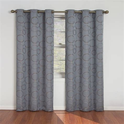 100 X 95 Curtains Eclipse Meridian Blackout River Blue Curtain Panel 95 In Length 11250042x095rvb The Home Depot