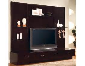 Led Wooden Wall Design Good Looking Wooden Tv Stand Unit Idea In Dark Cherry