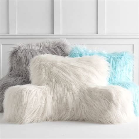 lounge pillow cover fur rific faux fur lounge around pillow cover pbteen