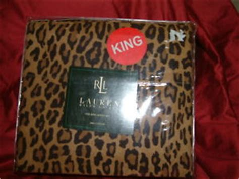 Ralph Leopard Sheets King ralph aragon leopard 4 pc king sheet set king