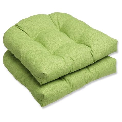 Wicker Chair Outdoor Cushions by Outdoor 2 Wicker Chair Cushion Set Green Target