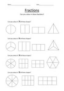 fraction coloring sheets colouring fractions worksheet by kellya89 teaching