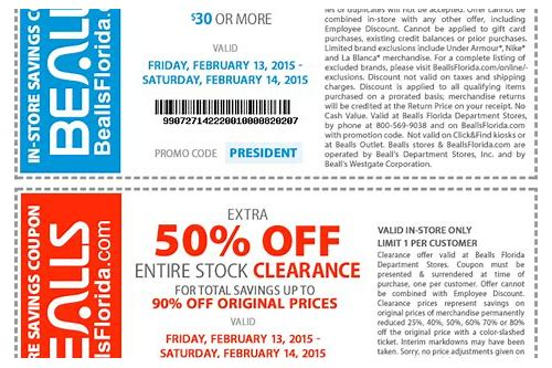 bealls coupon 2018