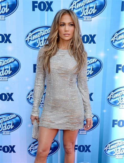 Jlo Psyched About American Idol by Wearing Kaufmanfranco Dress American