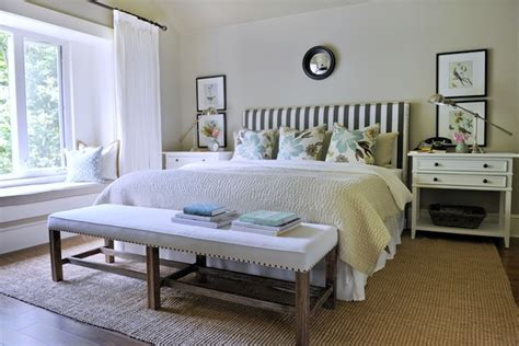 bench schlafzimmer pottery barn quilt transitional bedroom ralph