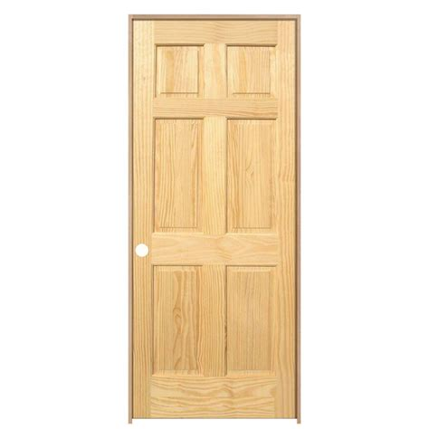 steves sons 6 panel single hip unfinished solid core prehung interior doors home depot 28 images builder s