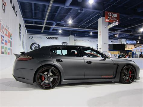 porsche cayenne matte grey misha designs panamera body kit to be unveiled at sema