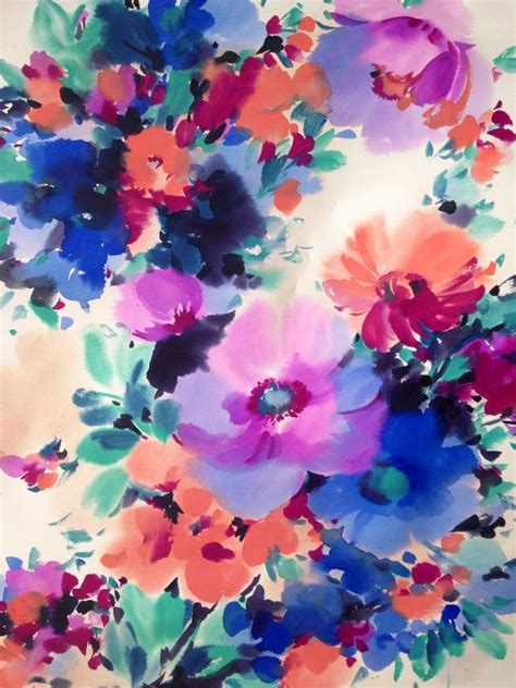 watercolor flower pattern wallpaper watercolor pattern design design and typography