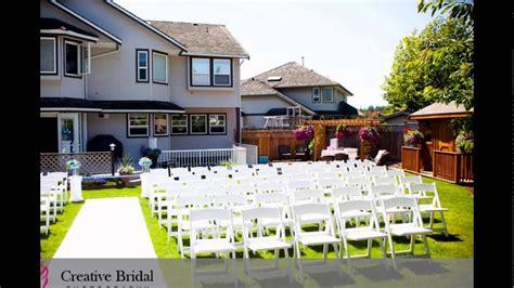 backyard wedding backyard wedding ideas backyard