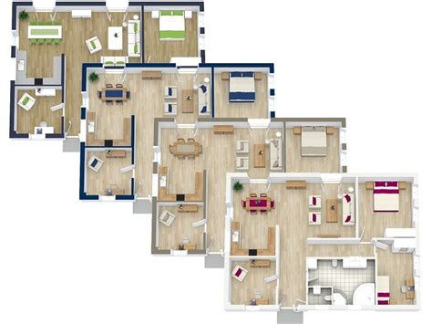 Small Townhouse Floor Plans by 3d Floor Plans Roomsketcher