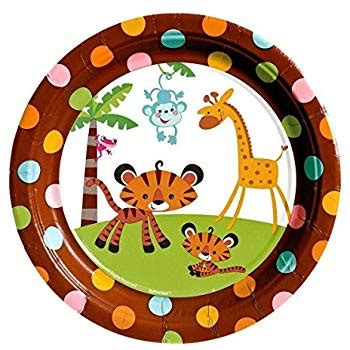 Monkey Baby Shower Plates by Fisher Price 7 Quot Dessert Plates Baby Shower