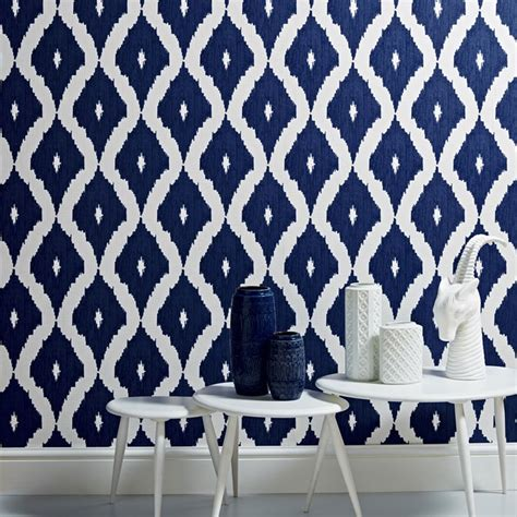 wallpaper wednesday kellys ikat by hoppen for