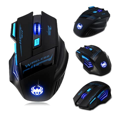 Mouse Gaming zelotes professional 2400 dpi wireless led optical notebook pc gaming mouse mice ebay