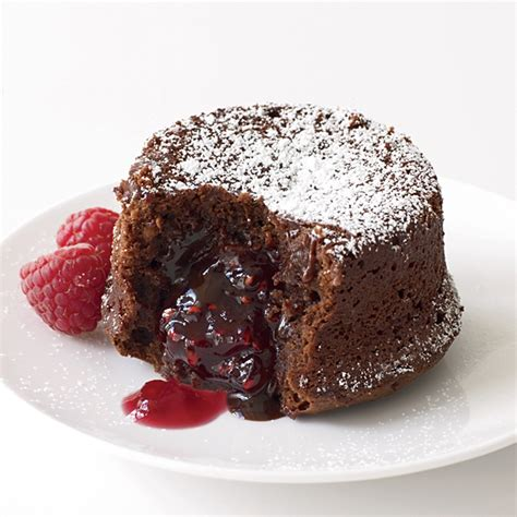 chocolate raspberry recipes molten chocolate cake with raspberry filling recipe