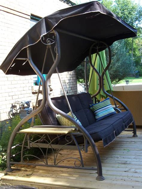 Patio Swing Kelowna Costco Large Patio Swing Daybed With Canopy Can