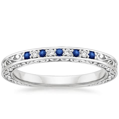 Wedding Ring With Wedding Band by 17 Best Ideas About Sapphire Wedding Bands On