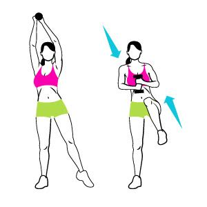 standing abs workout tone and tighten