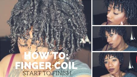 step bu step coil hairstyles how to finger coils natural hair short to medium