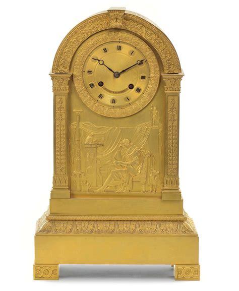 pendola da tavolo pendola da tavolo in bronzo dorato xix secolo arredi e