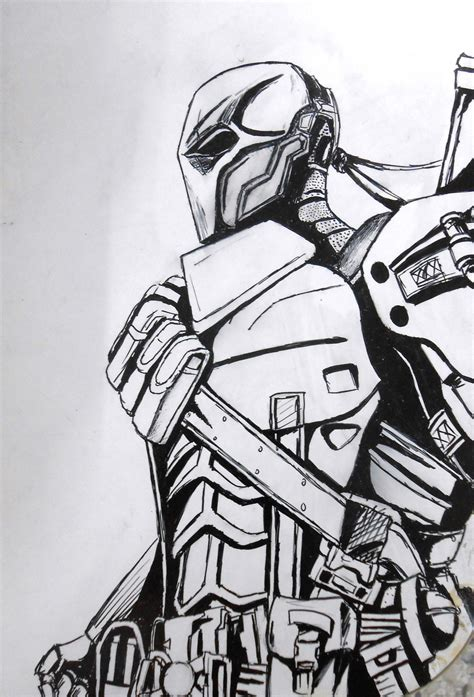 nothing in particular a coloring journal books deathstroke by kanatou on deviantart