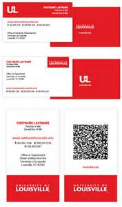 business cards louisville business cards uofl brand