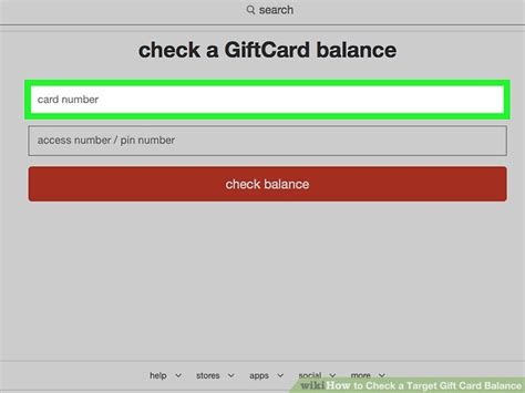 Gift Card Balance Checker - check my gift card balance target infocard co
