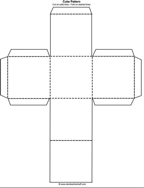 pattern design box cube outline free printable teaching free printables