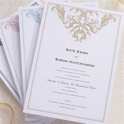 wedding invitation cards uk baroque invitation confetti co uk